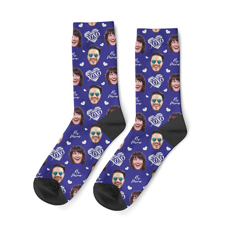 Custom Anniversary Face Socks