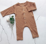 Ribbed Long Sleeved Baby Onesie