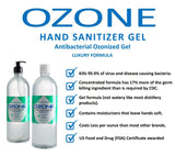 Hand Sanitizer Gel 70% Alcohol - Case 12/1 Liter bottles (33.81oz per bottle) - IN STOCK