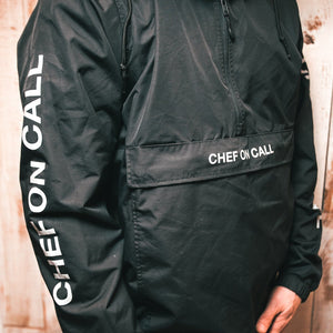 BLACK 3/4 PULL OVER JACKET