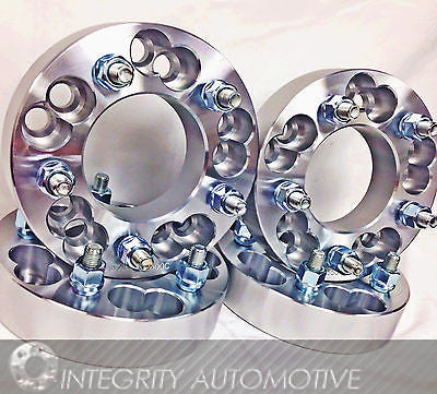 "4 Ford Wheel Adapters Spacers 5X108 To 5X120 1.25"" Inch Thick 
