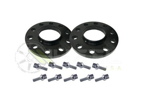 (2) 5x130 Porsche Wheel Spacers Hub Centric + 10x Lug Bolts  71.5mm Center Bore For 911 Carrera GT3 Boxster Cayman Panamera Cayenne