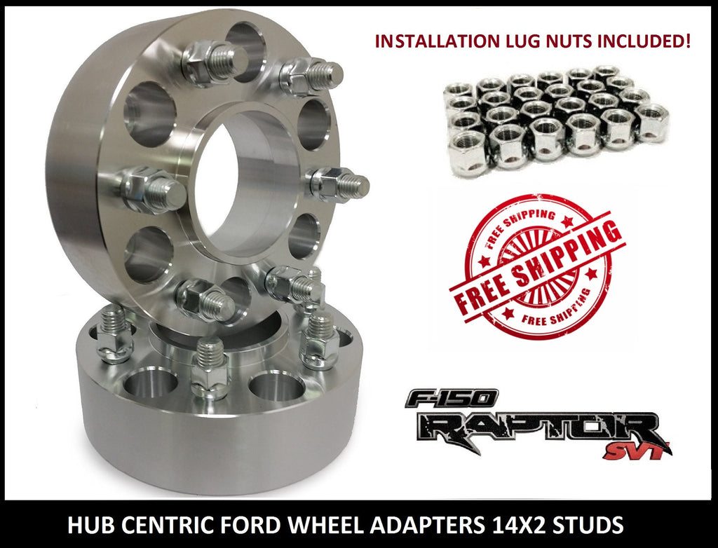 2 WHEEL SPACERS 6X135 1.25 INCH HUB CENTRIC FORD RAPTOR F150 EXPEDITION NAVIGATOR - Wheel Adapters USA