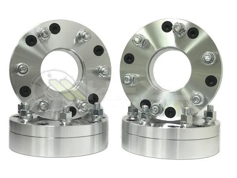 "4Pc 5x4.75 To 6x5.5 Wheel Adapters 2"" Inch Thick 12x1.5 Studs Use 6 Lug Wheels On 5 Lug Vehicle 