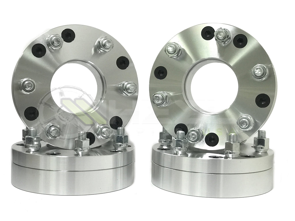 "4 WHEEL ADAPTERS 5x4.5 TO 6x135 | USE 6 LUG WHEELS ON 5 LUG CAR | 2"" INCH THICK 