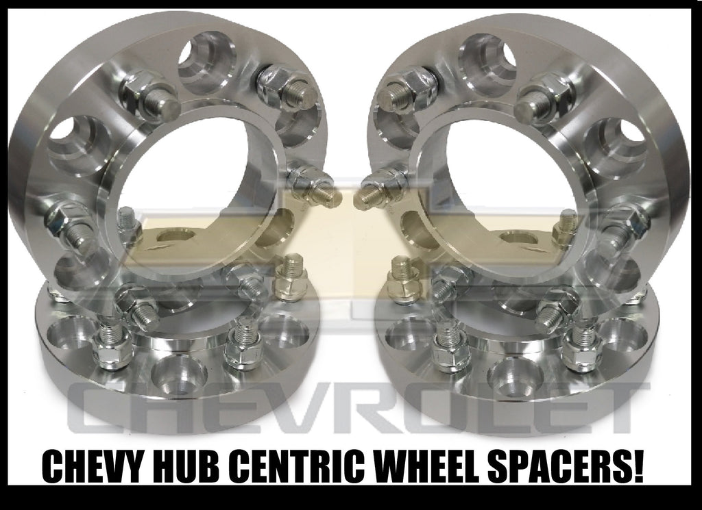 4X CHEVY TRUCK HUB CENTRIC 6X5.5 WHEEL SPACERS 1 INCH THICK | 14X1.5 STUDS