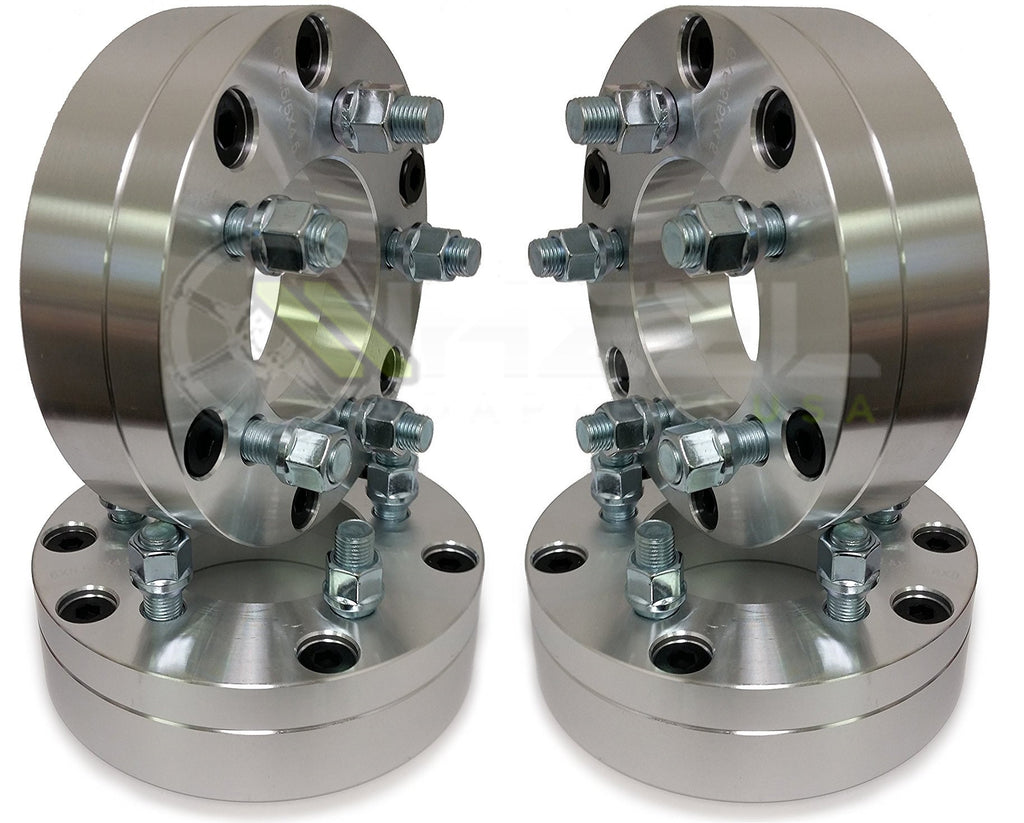 "4 WHEEL ADAPTERS 6X5.5 TO 5X4.75 | USE 5 LUG WHEELS ON 6 LUG TRUCK 2"" THICK 14X1.5"
