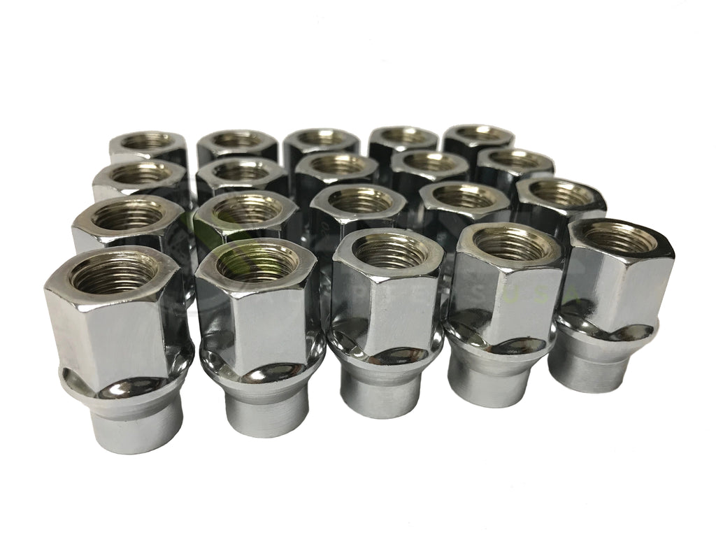 Nissan Extended Thread Lug Nuts Open end NHRA regulation racing lugs | Perfect for Spacers without Studs 12x1.25 gives you extra thread turns