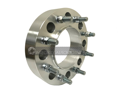 8x165 to 8x165 Thickness 1 Inch 14x1.5 Studs 2 Wheel Adapters 8x6.5 to 8x6.5