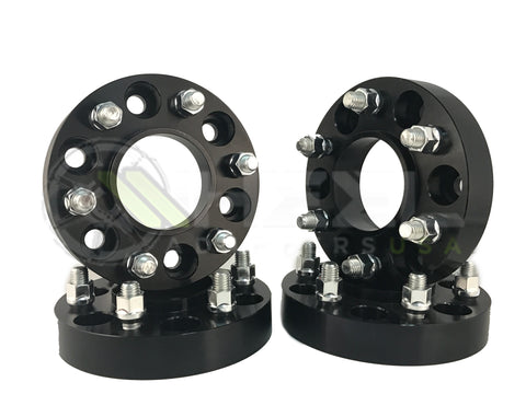 4 6X135 To 6X5.5 Hub Centric Wheel Adapters | 14X2.0 Studs Allows Ford Trucks To Use Chevy GMC Truck Wheels