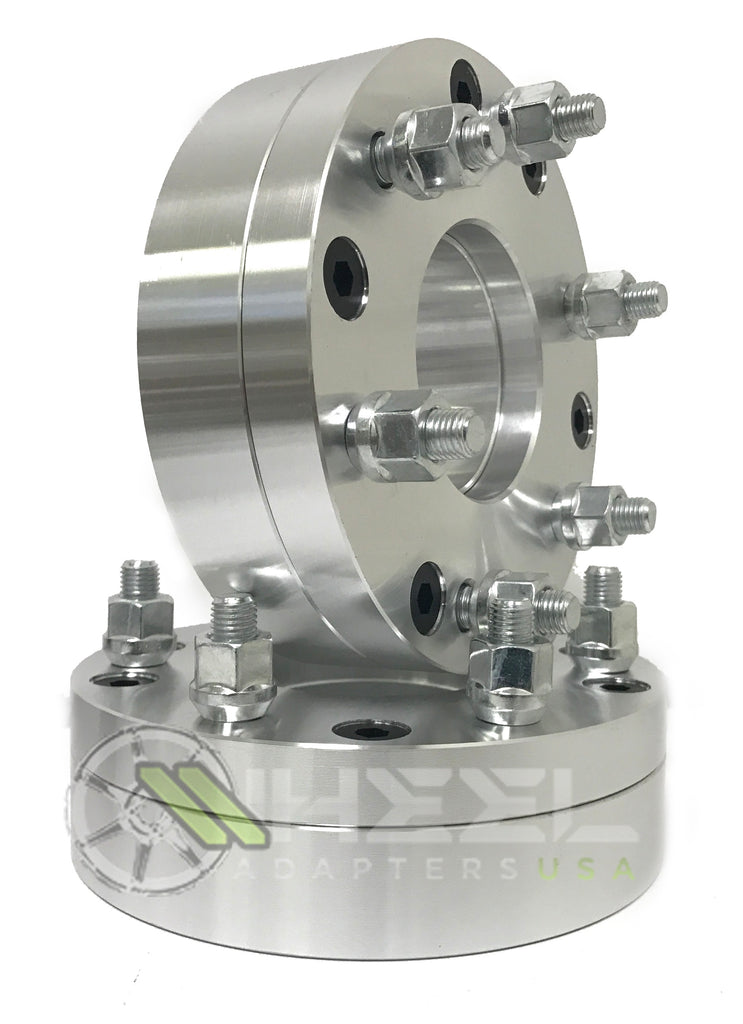 "5x4.5 To 6x132 Wheel Adapters use 6 Lug Wheels On 5 Lug Cars 2"" Inch Thick 14x1.5 Studs"