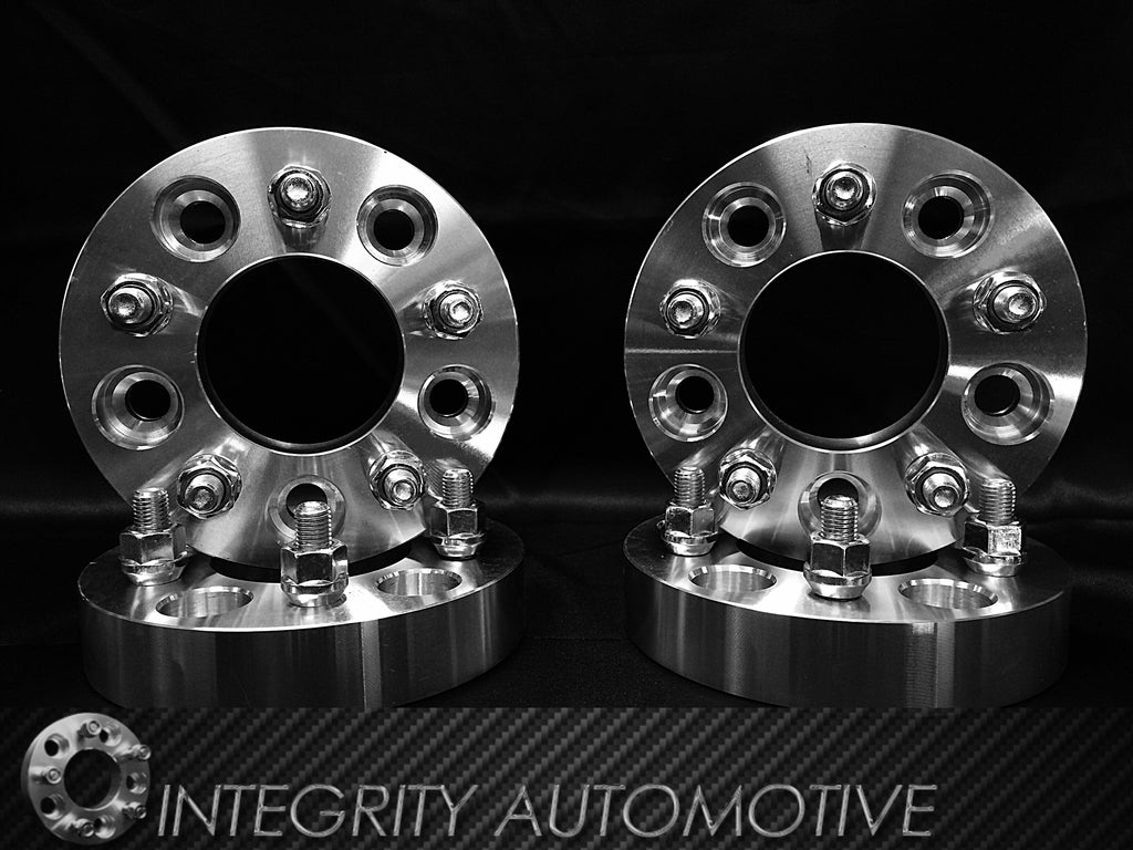 4 Wheel Spacers 5x108 Bolt Pattern With 12x1.5 Studs 1 Inch Thick 25mm (5x4.25)