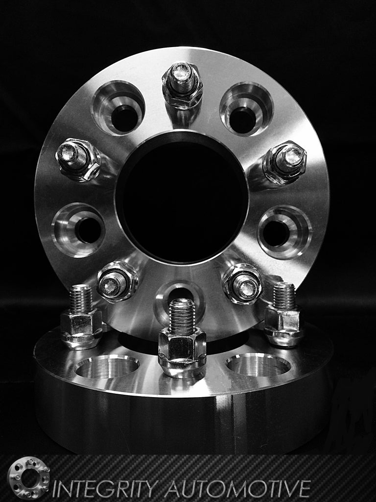 2 Wheel Spacers 5x108 Bolt Pattern With 12x1.5 Studs 1.25 Inch Thick 32mm (5x4.25)