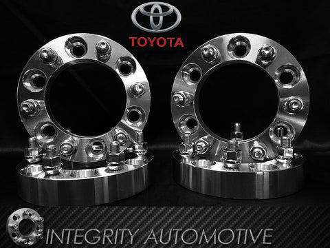 4 Toyota Wheel Spacers 6x5.5 (6x139.7) 1-3 Inches In Stock! 12x1.5 Studs Fits All 6 Lug Toyota Trucks!