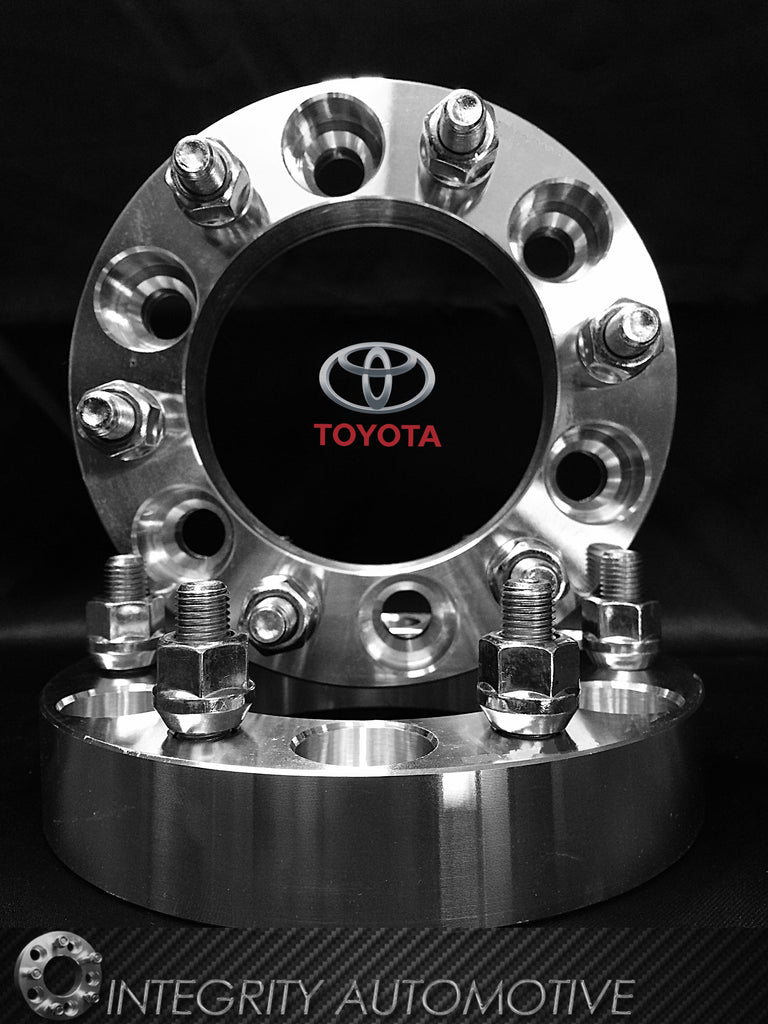 2 Toyota Wheel Spacers 6x5.5 (6x139.7) 1-3 Inches In Stock! 12x1.5 Studs Fits All 6 Lug Toyota Trucks!