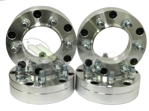 "5x5.5 To 6x135 Hub Centric Wheel Adapters | Use 6 Lug Ford Wheels On 5 Lug Vehicle | 2"" Inch Thick 1/2x20 Studs"