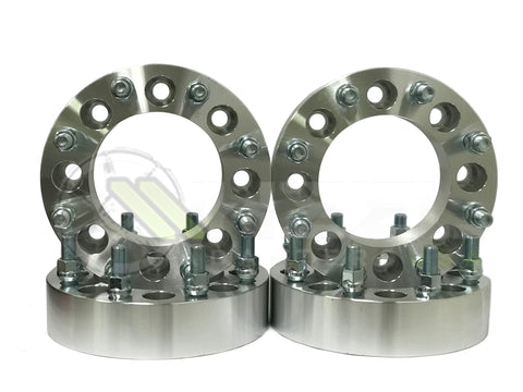 "8x6.5 Wheel Adapter Spacers 9/16 Studs | 1"" Inch Thick For Dodge Chevy and Ford 8 Lug Trucks"