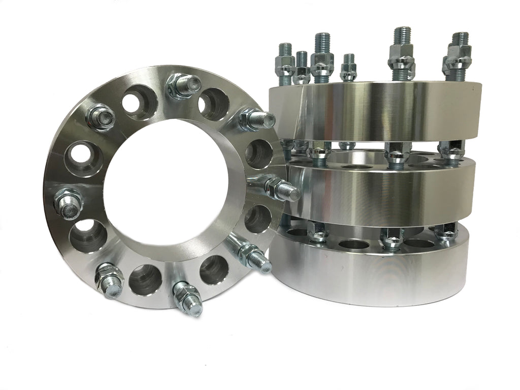 4X 8X6.5 To 8X180 Wheel Adapters Spacers | 2 Inch Thick 14X1.5 Studs | 8X165.1 To 8X180
