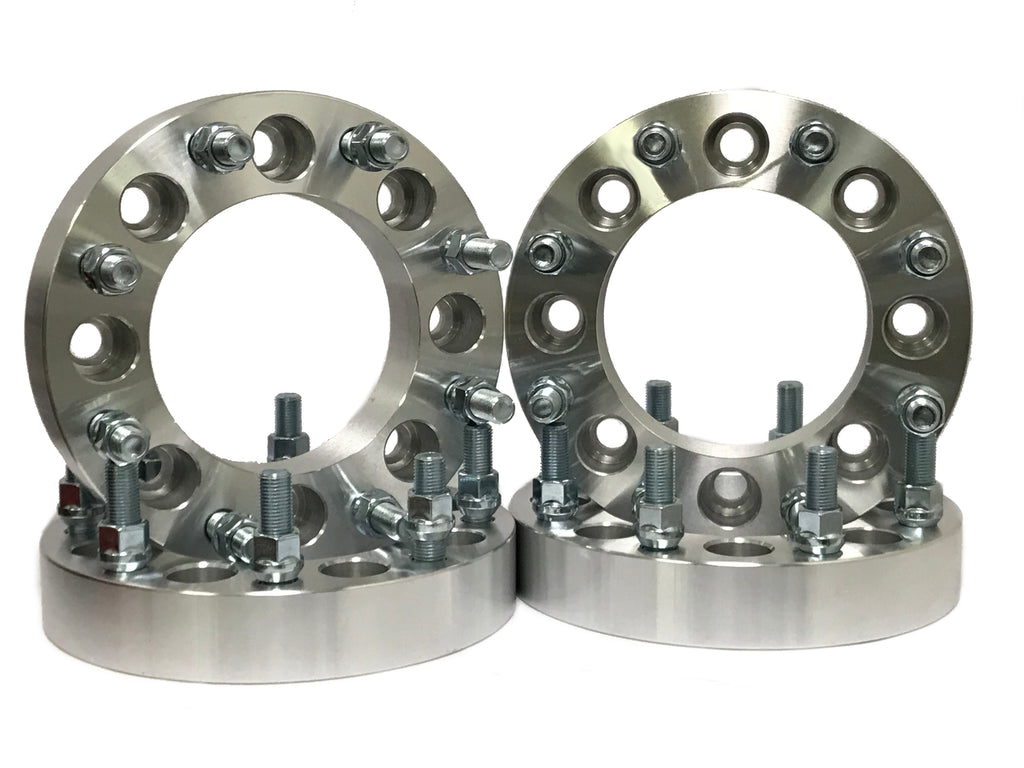 (4) 8X180 Wheel Spacers Chevy Silverado 2500 3500 HD GMC Sierra 2 Inch Thick 14x1.5 Fits All 2011 & newer 8 Lug Chevy GMC HD Trucks