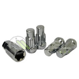 TALL LOCKING LUG NUTS WHEEL LOCKS CHROME 14X1.5 | 8x6.5 | CHEVY GMC SILVERADO HUMMER