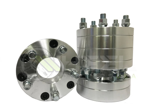 6x120 To 5x120.7 Wheel Adapters 14x1.5 Studs 2 Inch Thick Also known as 6x4.75 to 5x4.75 Adaptors