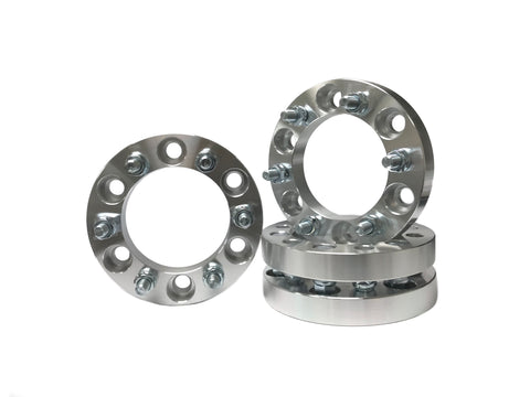 6x5.5 Wheel Spacers 1.25 Inches, 1.5 inches 2 Inches & 3 Inches Thick 14x1.5 Studs Fits Most Chevy, GMC, Cadillac 6 Lug Trucks Also known as 6x139.7