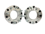 "6X5.5 To 8X6.5 Wheel Adapter Spacers Use 8 Lug Chevy GMC Wheels On 6 Lug Chevy Toyota Trucks  2"" Inch Thick 14x1.5 Studs"
