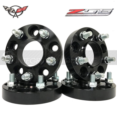 (4) 5X4.75 Chevy Camaro Corvette Hub Centric Wheel Spacers Adapters 5X120 25mm 1 Inch Thick 14x1.5 Studs 66.90mm Center Bore