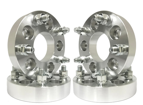 5X4.5 To 5X5 Jeep Wheel Adapters - Adapts Jeep Jk JL Wheels On Tj Yj Kk Sj Xj Mj 5X114.3 To 5X127 Hub Centric & Wheel Centric Black Adapters Or Aluminum Finish