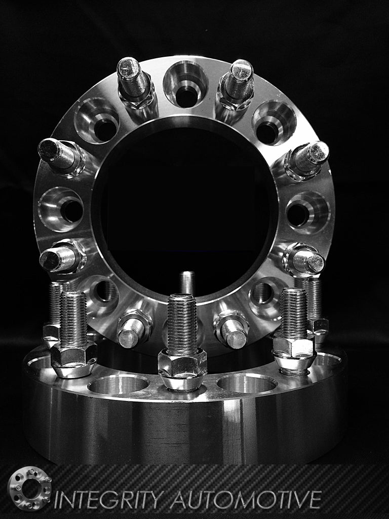(2) 8X180 Wheel Spacers Chevy Silverado 2500 3500 HD GMC Sierra 1.25 Inch Thick 14x1.5 Fits All 2011 & newer 8 Lug Chevy GMC HD Trucks