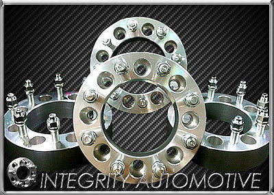 4 Chevy & GMC 8x6.50 Wheel Spacers Adapters FITS MOST 8 lug 2 inch 8x165 14X1.5 - Wheel Adapters USA