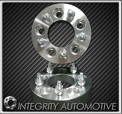 2 Wheel Spacers Adapters | 1 Inch | 5X120 | Chevy Camaro | Corvette | S10 | Cts - Wheel Adapters USA