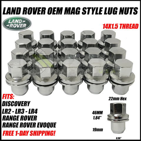Land Rover Factory OEM Lug Nuts 14x1.5 | Fits Range Rover LR2 LR3 LR4 Discovery Evoque