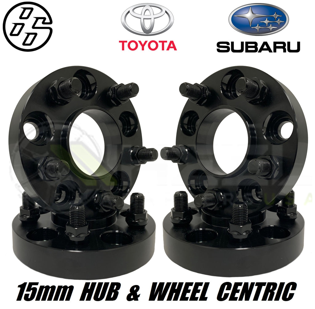 5x100 To 5x114.3 Adapters 15mm Toyota FT 86, FRS, Subaru BRZ Wheel Adapters Spacers Hub Centric Wheel Centric 56.1 - 12x1.25 Studs