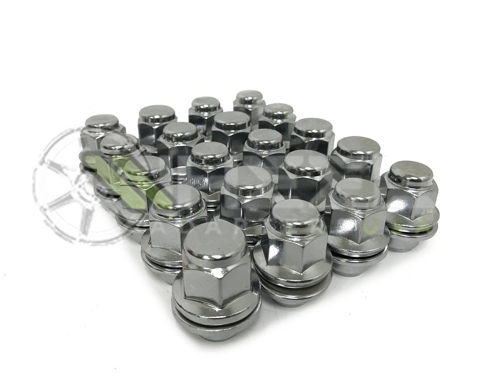 24X OEM FACTORY MAG LUG NUTS 12X1.5 FITS ALL MAG SEAT STOCK RIMS