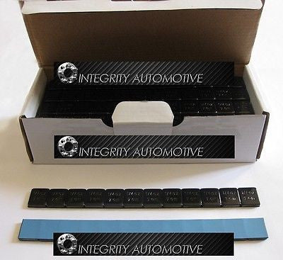 2 Boxes Black Stick On Wheel Weights 1/4 Oz (.25 Ounces) Adhesive Tape 1248 Pcs! - Wheel Adapters USA - 1
