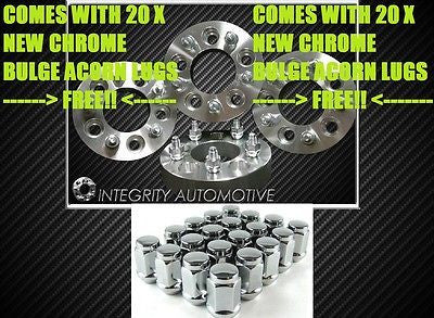 "4 Wheel Spacers | 5X4.5 To 5X4.5 | 1.25"" Inch 