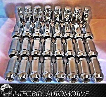 24 Chrome Bulge Lug Nuts | 14X2 Thread Ford Expedition F-150, Lincoln Navigator - Wheel Adapters USA