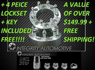 "2 Wheel Adapters Spacers 8X170 To 8 X 170 2"" Ford Superduty + Free Wheel Locks ! - Wheel Adapters USA"