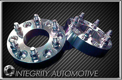 2 CHEVY GMC CADILLAC | 1 inch | WHEEL SPACERS | ADAPTERS | 6X5.5 | 14x1.5 STUD - Wheel Adapters USA