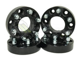 4 6X135 To 6X5.5 Hub Centric Wheel Adapters 1.5 Inch Thick | 14X2 Studs Converts Use Chevy GMC Truck Wheels On Ford Trucks