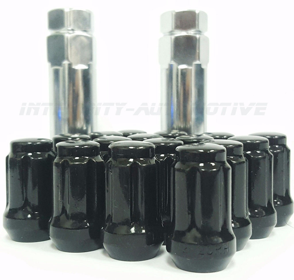 20 Black Spline Tuner Racing Lug Nuts 12x1.5 Fits All Honda / Acura Aftermarket Wheels RSX, Civic, Si, S2000, Prelude