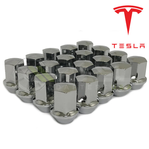 Tesla OEM Replacement Lug Nuts 14x1.5 Fits Model S Model 3 Model X - Updated 2020 Style With Wider Seat For True OEM Fit!