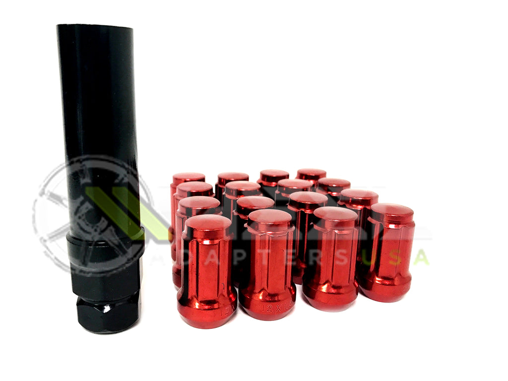 20 Red Spline Tuner Racing Lug Nuts 12x1.25 Fits All Nissan / Infiniti Cars 350z, 370z, 240sx, GTR, G35, G37 etc...