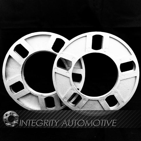 5 LUG UNIVERSAL 1/2 INCH WHEEL SPACERS FITS 5X4.5, 5X114.3, 5X5, 5X127, 5X108 - Wheel Adapters USA - 2