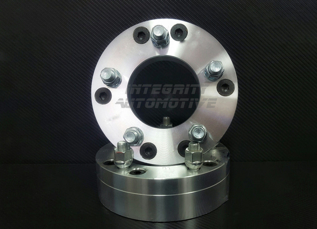 "2 WHEEL ADAPTERS 6X5.5 TO 5X4.5 | USE 5 LUG WHEELS ON 6 LUG CAR 2"" THICK 12X1.5 - Wheel Adapters USA - 1"