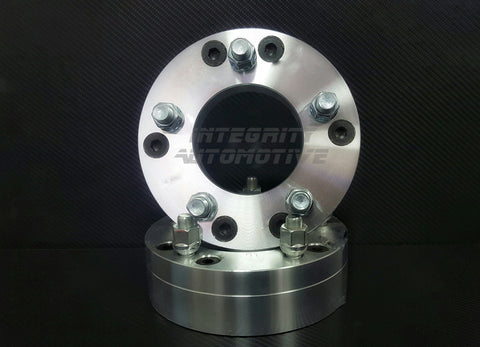 "2 WHEEL ADAPTERS 5x5 TO 6x5.5 | USE 6 LUG WHEELS ON 5 LUG CAR | 2"" INCH THICK 