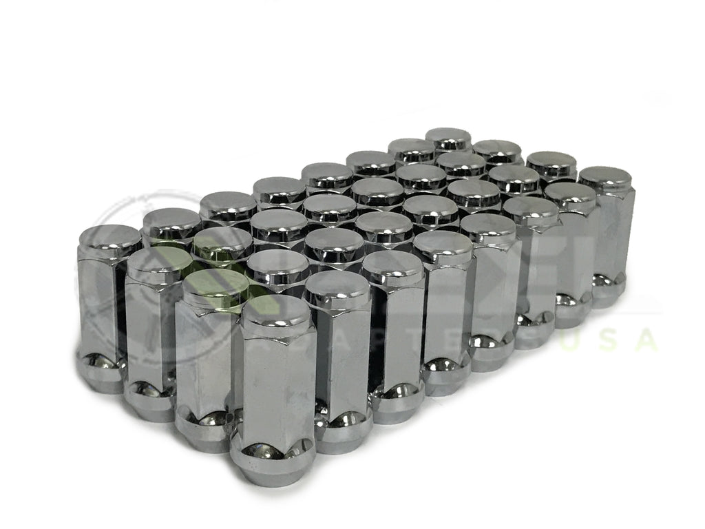 "32X DODGE RAM TRUCK CHROME LUG NUTS | 9/16 THREAD 1.9"" TALL 