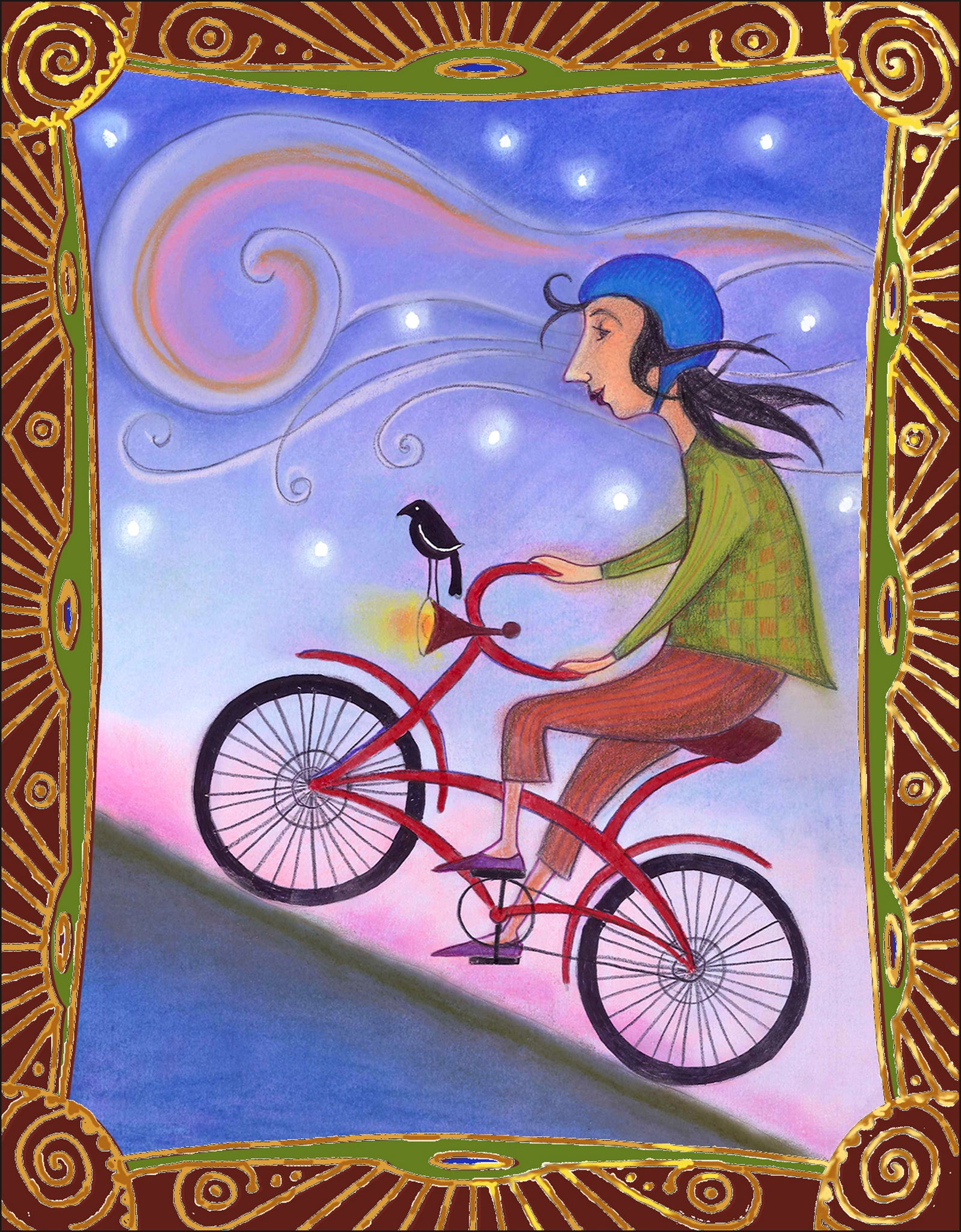 Bicycle Ride Notecard
