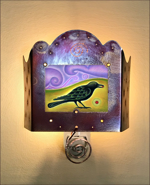 Crow with Berry Luminette
